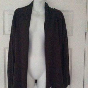 Zenobia Brown Cardigan Sweater  1X
